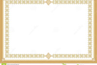 Certificate Stock Vector. Illustration Of Award, Blank within Award Certificate Border Template