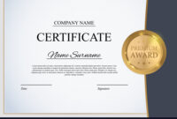 Certificate Template Background Award Diploma within Winner Certificate Template