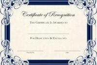 Certificate-Template-Designs-Recognition-Docs | Certificate with Sample Certificate Of Recognition Template
