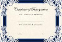 Certificate Template Designs Recognition Docs | Certificate With Template For Certificate Of Award