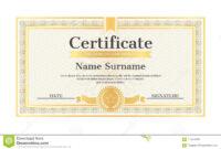 Certificate Template Editable Name Surname Date Stock Vector regarding Star Naming Certificate Template