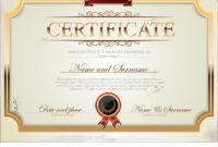 Certificate Template for Commemorative Certificate Template