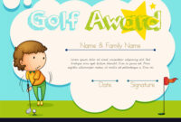 Certificate Template For Golf Award in Golf Certificate Template Free