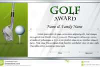 Certificate Template For Golf Award Stock Vector inside Golf Gift Certificate Template