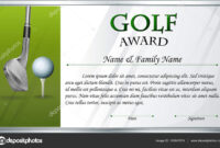 Certificate Template For Golf Award — Stock Vector With Regard To Golf Certificate Template Free