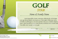 Certificate Template For Golf Star With Green Background within Golf Certificate Template Free