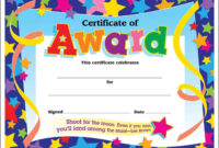 Certificate Template For Kids Free Certificate Templates within Free Student Certificate Templates