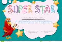 Certificate Template For Super Star Stock Vector throughout Star Certificate Templates Free