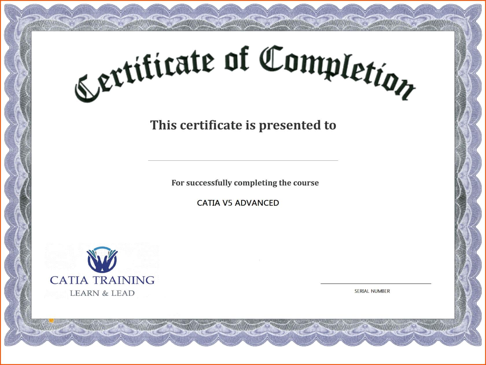 Certificate Template Free Printable - Free Download   Free Inside Blank Certificate Templates Free Download