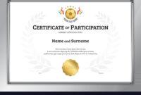 Certificate Template In Football Sport Theme With in Football Certificate Template