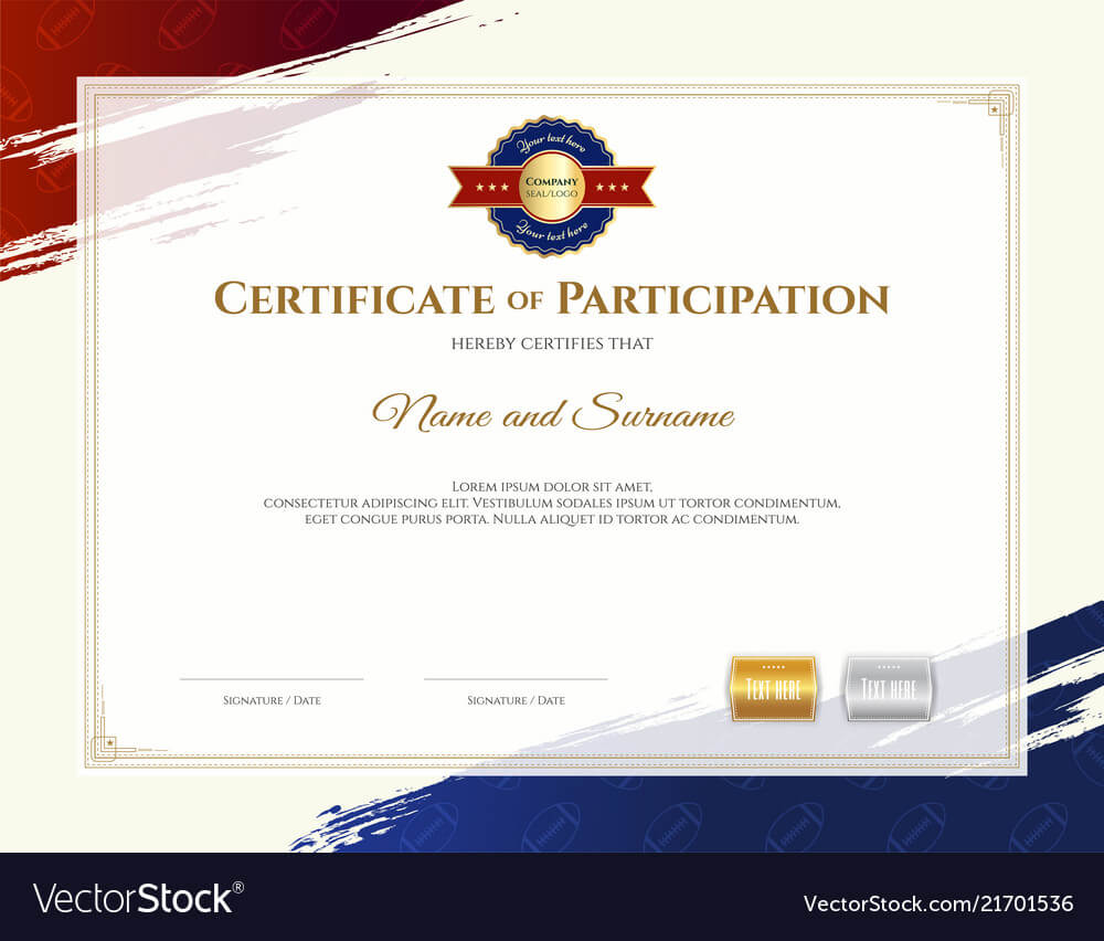 Certificate Template In Rugby Sport Theme With Inside Rugby League Certificate Templates