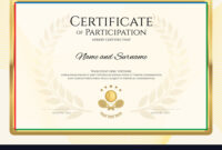 Certificate Template In Sport Theme With Border in Tennis Certificate Template Free