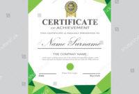 Certificate Template Modern A4 Horizontal Landscape Stock in Landscape Certificate Templates