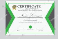 Certificate Template Modern A4 Horizontal Landscape Stock intended for Landscape Certificate Templates