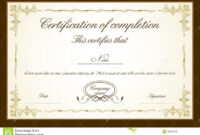 Certificate Template Royalty Free Stock Photos Image within Blank Certificate Templates Free Download