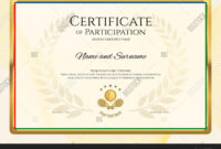Certificate Template Vector & Photo (Free Trial) | Bigstock inside Tennis Gift Certificate Template