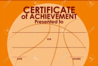 Certificate Template With Basketball Background Illustration within Basketball Certificate Template