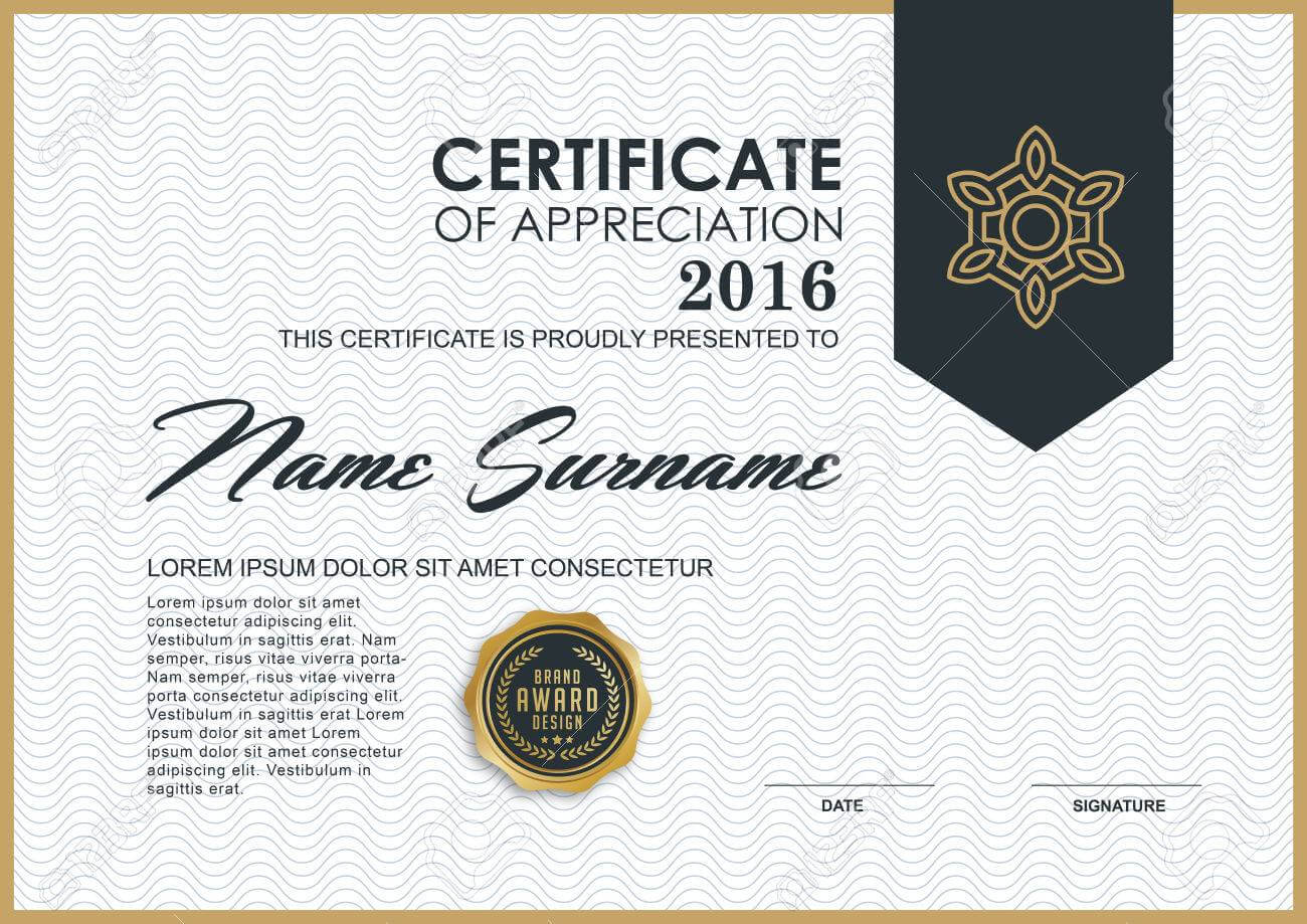 Certificate Template With Luxury And Modern Pattern,, Qualification.. With Qualification Certificate Template