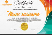 Certificate Template With Polygonal Style And Modern Pattern for Workshop Certificate Template