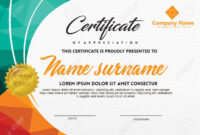 Certificate Template With Polygonal Style And Modern Pattern.. intended for Workshop Certificate Template