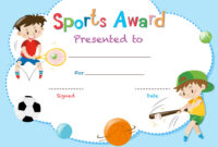 Certificate Template With Two Boys Playing Sports with regard to Athletic Certificate Template