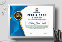 Certificate Templatecreative Touch On Dribbble pertaining to Landscape Certificate Templates