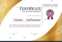 Certificate Templatediploma Layouta4 Size Vector Stock Inside Certificate Template Size