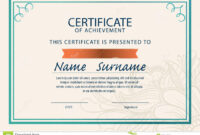 Certificate Template,diploma,a4 Size , Stock Illustration regarding Certificate Template Size