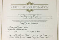 Certificate Templates: Certificate Of Ordination Pastoral within Certificate Of Ordination Template