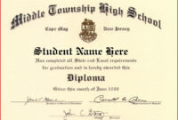 Certificate Templates | Free High School Diploma, High with regard to Free School Certificate Templates