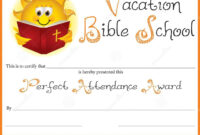 Certificate Templates: Free Vacation Bible School with regard to Vbs Certificate Template