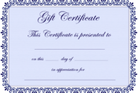 Certificate Templates | Gift Certificate Template Free – Pdf intended for Present Certificate Templates