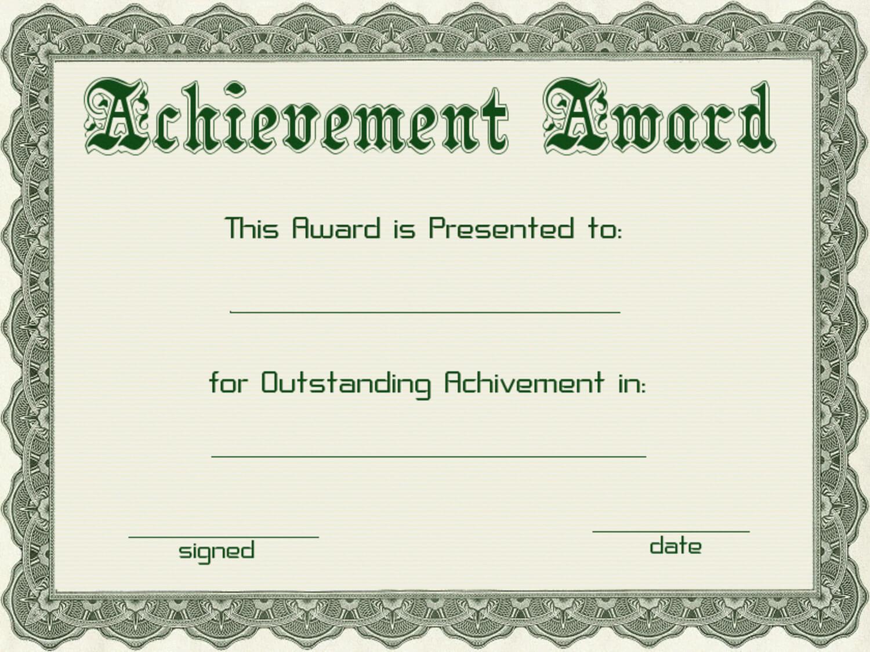 Certificate Templates | Green Award Certificate Powerpoint For Powerpoint Award Certificate Template