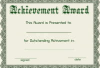 Certificate Templates | Green Award Certificate Powerpoint with Award Certificate Template Powerpoint