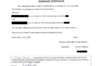 Certificate Templates: Marriage And Divorce Certificate for Marriage Certificate Translation From Spanish To English Template