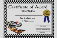 Certificate Templates: Pinewood Derby Certificates Templates in Pinewood Derby Certificate Template