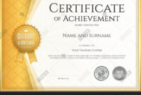 Certificate Vector & Photo (Free Trial) | Bigstock inside Certificate Of Accomplishment Template Free