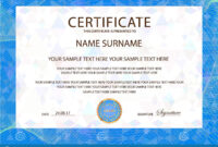 Certificate Vector Template. Formal Secured Blue Border throughout Officer Promotion Certificate Template