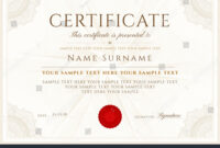 Certificate Vector Template. Formal Secured Border Guilloche with Formal Certificate Of Appreciation Template
