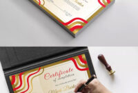 Certificatecurvedesign On | Certificate Templates With Indesign Certificate Template