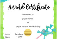 Certificates For Kids for Free Kids Certificate Templates