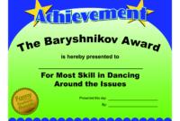 Certificates Fun Certificate From Funny Employee He Bar throughout Fun Certificate Templates