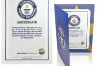 Certificates pertaining to Guinness World Record Certificate Template