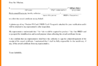 Certification Renewal Letter Authorization Collect for Certificate Of Authorization Template