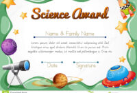 Certification Template For Science Award Stock Vector intended for Gymnastics Certificate Template