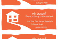 Change-Of-Address Cards, A Fun Example. Free Printable In throughout Moving Home Cards Template