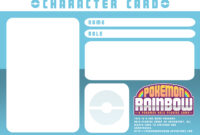 Character Card Templatery-Spirit On Deviantart pertaining to Pokemon Trainer Card Template