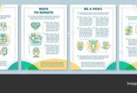 Charity Brochure Vectors | Volunteering Brochure Template regarding Volunteer Brochure Template