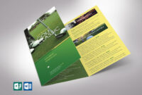 Charity Golf Tournament Tri-Fold Brochure Word Publisher within Tri Fold Brochure Publisher Template