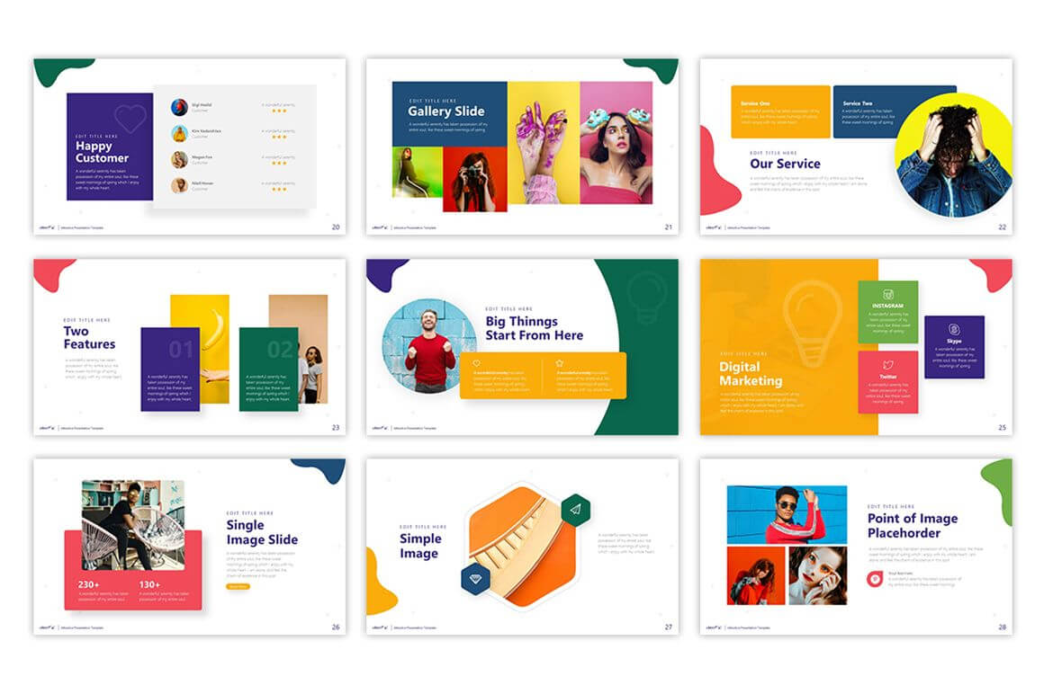 Cheerful - Attractive Powerpoint Template #75495 Inside Pretty Powerpoint Templates